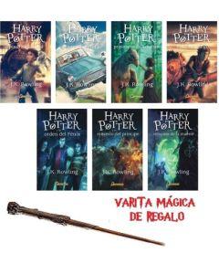 HARRY POTTER 1-7 SAGA COMPLETA + VARITA DE REGALO
