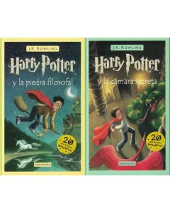 PACK HARRY POTTER TAPA DURA 1 Y 2